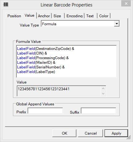 Linear Barcode Properties