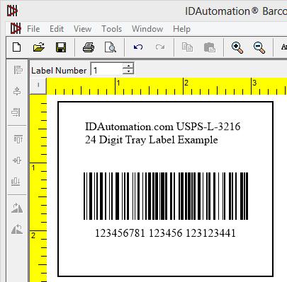 USPS-L-3216 24-Digit Tray Barcode Label | BarcodeFAQ com