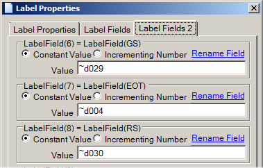 Entering Header, GS and EOT as Fields of ISO/IEC 15434 Format 05 Make Formulas Easy To Edit