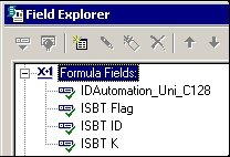 ISBT-128 Fields in Crystal Reports