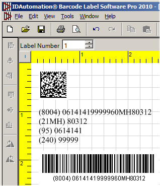 Add Linear Barcode Object and Enable the Apply Tilde Feature in the Encoding Tab.