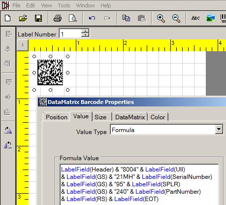 Change Value Type to Formula and Enter VB Script.