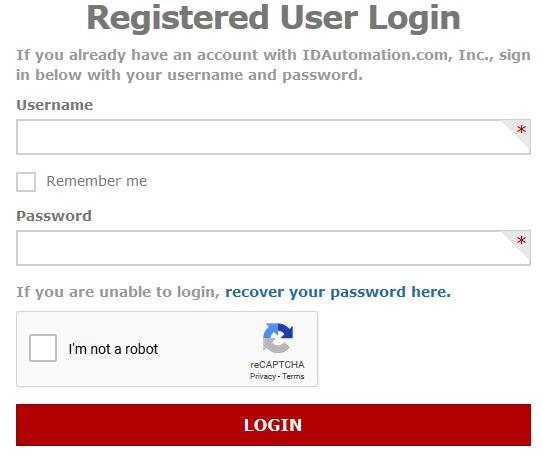 Registered User Login