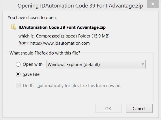 Downloading IDAutomation Products | BarcodeFAQ com