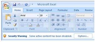 Resolve 'content disabled' warnings | BarcodeFAQ com