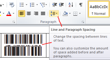 white lines appear in a databar stacked barcode