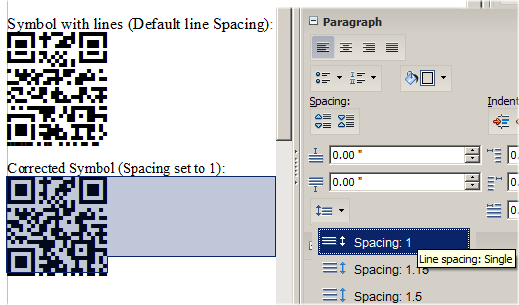 OpenOffice Writer line spacing adjustment