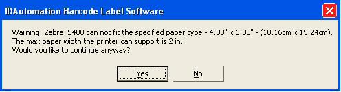 Paper Error Size