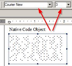 Unicode Image system font example